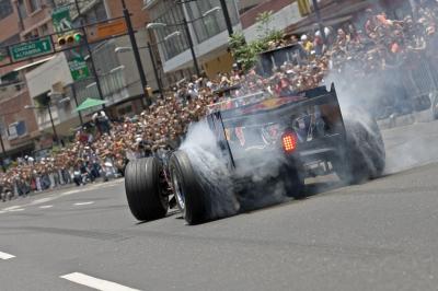 Un Formula Uno en Caracas